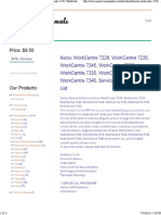 Xerox WorkCentre 7228, WorkCentre 7235, WorkCentre 7245, WorkCentre 7328, WorkCentre 7335, WorkCentre 7345, WorkCentre 7346, Service Manual & Parts List - Any Service Manuals