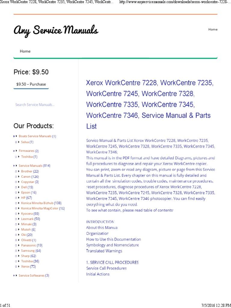 xerox 7345 manual
