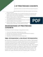 Advantages of Prestressed