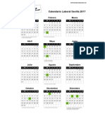Calendario Laboral Sevilla 2017