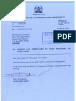 Ministry Letter to KLA