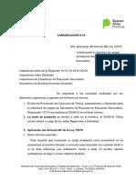 COMUNICACIÓN 5 -16 Aplicación Art 88 Secretarios Secundaria