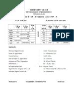 III-I(R13) Tentative Time Table