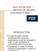 1 Underwriting of Shares and Debntures