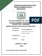 CUADRO DE AREAS COMPLEJO CULTURAL