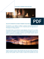 Balance Energético de 2015 y Perspectivas Para 2016