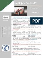 Dépliant Publicitaire Activités Mercredis PM Bloc 1 1e Cycle 2016 2017