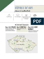 Czech Republic in Five Days Guide