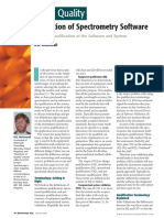 Validation of Spectrometry Software