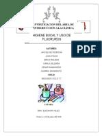 Higiene Bucal y Huso de Fluoruros