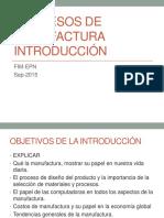 Introducción Procesos de Manufactura