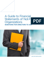 A Guide to Financial Statements of Not for Profit Organizations Questions for Directors to Ask 2012