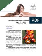 As Magnificas Propriedades Cosmeticas Do Oleo de PALMISTE
