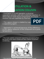 Distillation & Distillation Column