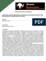 Análise de Fatores Limitantes Do Controle Do Processo Produtivo Em