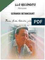 PASILLO RECÓNDITO. Para piano. Gerardo Betancourt.