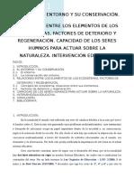 Tema 9 El Entorno y Su Conservación