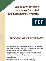 Causas Hormonales en La Alteración Del Crecimiento Infantil