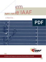 Reform of the IAAF - A New Era