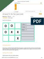 AI Based Tic Tac Toe (Java Code) - CodeProject