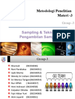 Sampling & Teknik Pengambilan Sample