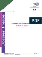 Academie Dijon- Resultats Bac 2016 - 1er Groupe