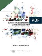 Casos de implicación de la iglesia en crímenes del paramilitarismo