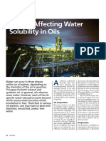 Factors Affecting Water Solubility in Oils