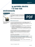 Maintaining Portable Electric Equipment in Low-risk Environments