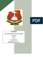 Evaluacion Tecnica de Las Lagunas Para Agua Residual Para El Cantón Cuenca Luis Tello