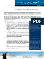 Portable Appliance Testing in Low Risk