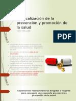 Medicalización de La Prevención y Promoción de la salud