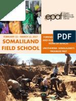 Brochure Somaliland Field School 2017