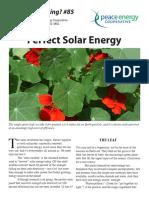 Watt's#85 Perfect Solar Energy