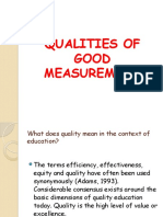 RosaryQualities of Good Measurement