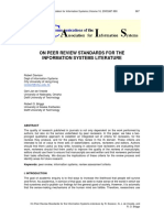 MIS696A 2011 on Peer Review Standards for the Information Systems Literature