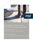 2016 Homelessness in Knoxville and Knox County