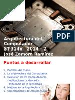 Clase_1_Arquitectura y Organización Del Computador 2015-0