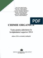 Teste Chimie Organica Admitere Bucuresti 2016