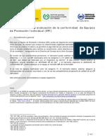 Procedimientos de Evaluacion de La Conformidad de Equipos de Protección Individual
