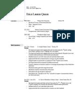 erica queen resume
