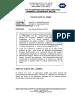 Silabo Merc de K y Dinero , Prof. IVAN OQUENDO