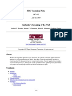 Syntactic Clustering of the Web