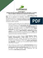 [PR] COMISEDH rechaza maniobra de Urresti de confundir a la opinión pública sobre el asesinato del periodista Hugo Bustíos