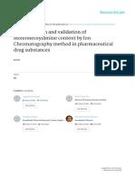 Determination and Validation of Monomethylamine Co
