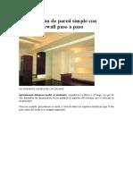 Construcción de Pared Simple Con Sistema Drywall Paso a Paso