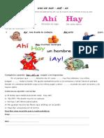 USO DE HAY - AHI - AY