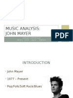 music analysis john mayer