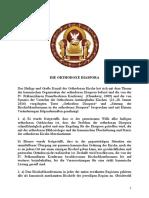 Konzilsdokument Die Orthodoxe Diaspora Dt(1)