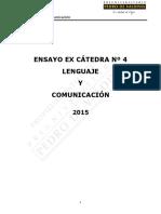Ensayo LE Ex Cátedra 04 2015